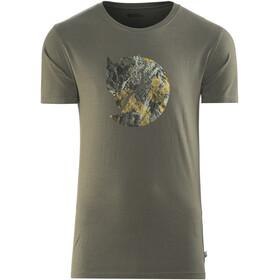 Fjällräven Rock Logo - Camiseta manga corta Hombre - gris